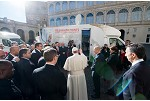 Pope blesses mobile hospitals